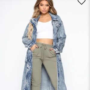 Nwt fashion nova denim trench jacket